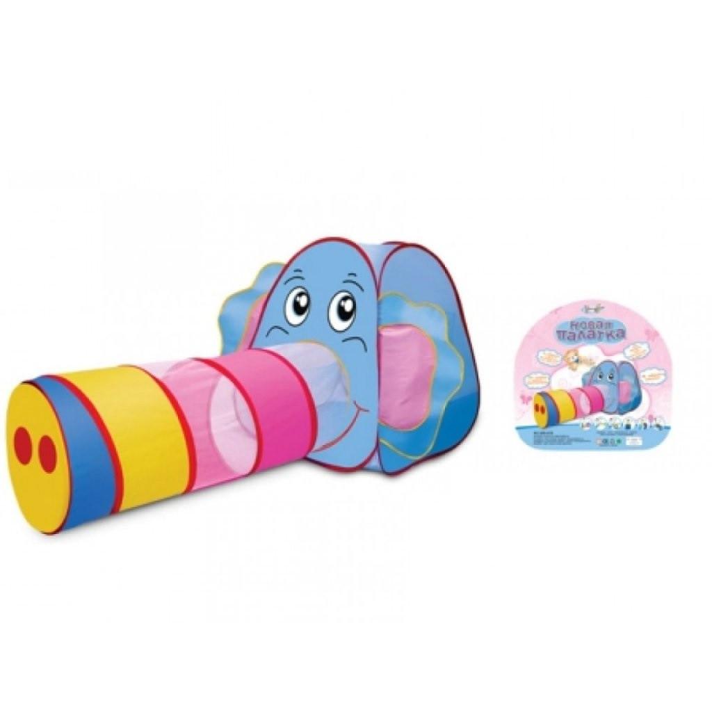 Детская игровая палатка с тоннелем в сумке для хранения Слоник 889-87B (размер 166*83*73см)