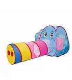 Детская игровая палатка с тоннелем в сумке для хранения Слоник 889-87B (размер 166*83*73см), фото 2