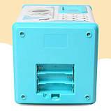 Дитячий сейф-скарбничка MK 4626 з кодовим замком і відбитком пальця, (колір блакитний), фото 5