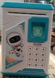 Дитячий сейф-скарбничка MK 4626 з кодовим замком і відбитком пальця, (колір блакитний), фото 8