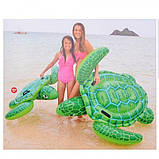 """Дитячий надувний пліт з ручками """"Морська Черепаха"""" для купання Intex 57524 NP (127*150 см), зелений, фото 6"""