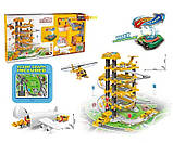 Детский игровой пятиуровневый гараж паркинг с винтовым спуском, вертолетом и машинкой 660 А-302, фото 2