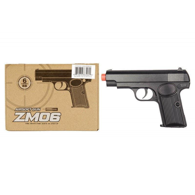 Дитячий пістолет ZM 06 копія пістолета ТТ з пластиковими кульками