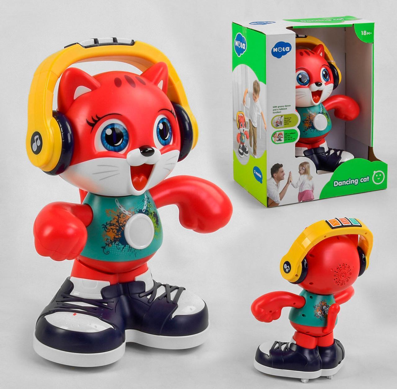 """Розвиваюча іграшка для малят """"Hola"""" E 721, Танцюючий котик, співає пісні, розмовляє англійською мовою"""