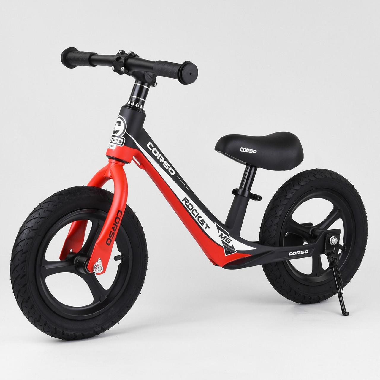 Велобег Corso 67689 с регулировкой по высоте, подножкой, для детей весом до 35 кг, красный