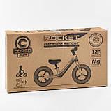Велобег Corso 67689 с регулировкой по высоте, подножкой, для детей весом до 35 кг, красный, фото 2