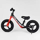Велобег Corso 67689 с регулировкой по высоте, подножкой, для детей весом до 35 кг, красный, фото 3