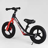 Велобег Corso 67689 с регулировкой по высоте, подножкой, для детей весом до 35 кг, красный, фото 5