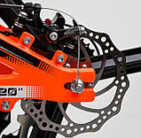 """Городской детский велосипед, колеса 20"""", переключатель скоростей CORSO «Speedline» MG-21060, оранжевый, фото 9"""