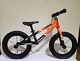 """Детский беговел с надувными колесами диаметром 14"""" и регулировкой сиденья CORSO «Runner» 23995, фото 2"""