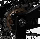 Велосипед двухколесный с дополнительными колесами и ручным тормозом CORSO «Speedline» MG-98402, черный, фото 6