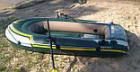 Двухместная надувная лодка Intex 68347 Seahawk 2 Set с веслами и насосом (236*114*41 см), фото 3