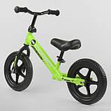 """Велобіг від Corso 19005, сталева рама, колесо 12"""" EVA (піна) салатовий, фото 3"""