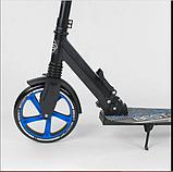 Детский двухколесный самокат Best Scooter 49716 , складной, с амортизацией и зажимом руля, черный, фото 2