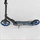 Детский двухколесный самокат Best Scooter 49716 , складной, с амортизацией и зажимом руля, черный, фото 3