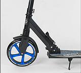 Детский двухколесный самокат Best Scooter 49716 , складной, с амортизацией и зажимом руля, черный, фото 4