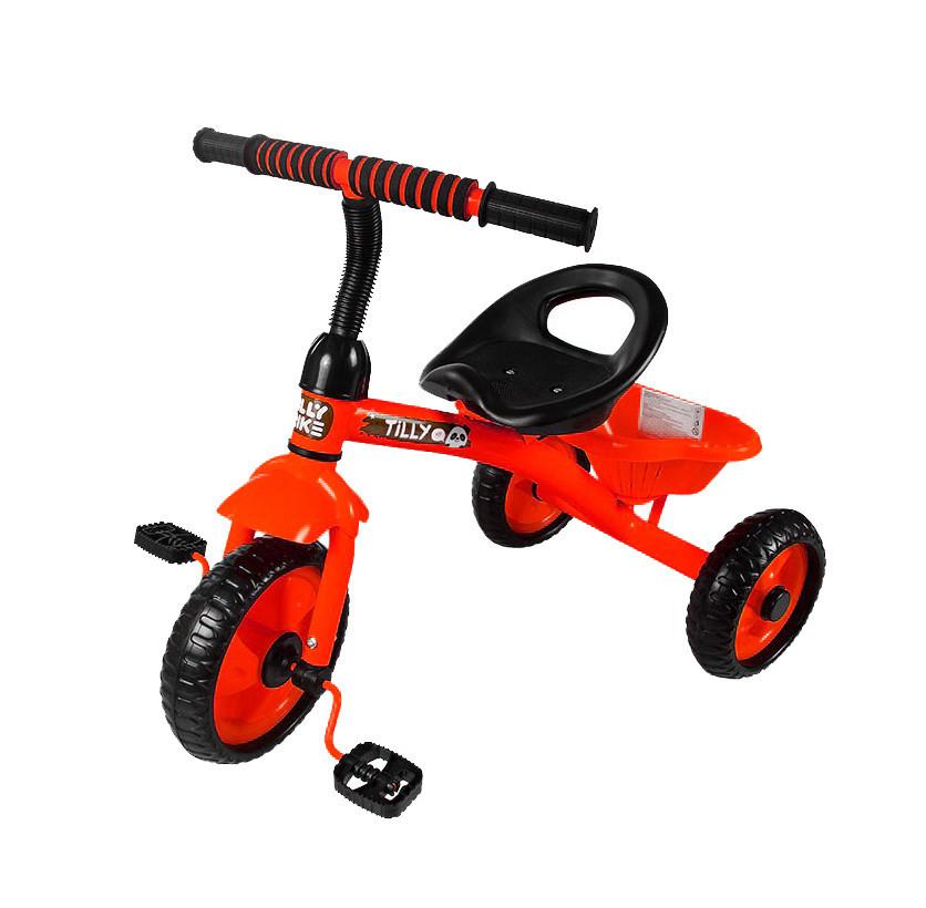 Детский трехколесный велосипед Tilly Trike T-315 Красный, EVA колеса, багажная корзина