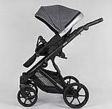 Дитяча універсальна коляска 2 в 1 Expander DEXO D-57115 колір Onyx,водовідштовхувальна тканину і еко-шкіра, фото 2