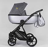 Дитяча універсальна коляска 2 в 1 Expander DEXO D-57115 колір Onyx,водовідштовхувальна тканину і еко-шкіра, фото 3