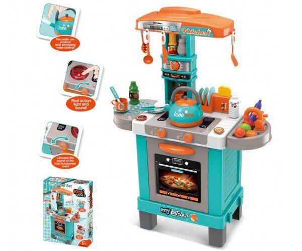 Дитяча кухня з посудом Limo Toy 008-939 А продуктами, світлові і музичні ефекти