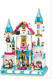 Игровой конструктор для девочки Qman 32015 Дворец принцессы с мебелью и фигурками (1169 деталей), фото 3