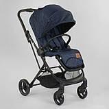 Прогулочная детская коляска со съемным сиденьем и чехлом на ножки JOY Liliya 66916 Синий, футкавер, фото 2