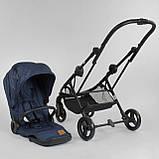 Прогулочная детская коляска со съемным сиденьем и чехлом на ножки JOY Liliya 66916 Синий, футкавер, фото 7