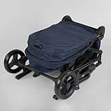 Прогулочная детская коляска со съемным сиденьем и чехлом на ножки JOY Liliya 66916 Синий, футкавер, фото 8