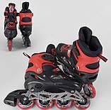 Раздвижные ролики с прочной фиксацией и сумкой для хранения 8655-М Best Roller размер 34-37, цвет красный, фото 2