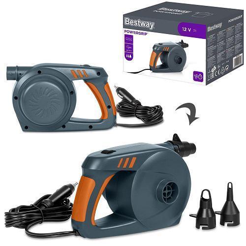 Электрический насос для надувания Bestway 62164 работает от прикуривателя (12 V, 220 V, 680 л/мин)
