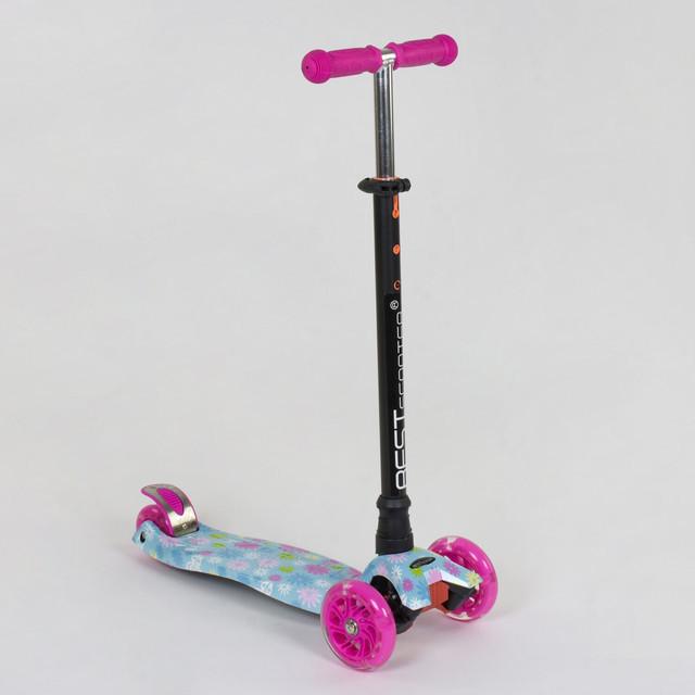 Самокат детский трехколесный Best Scooter Maxi А 25530 /779-1328, светящиеся PU колеса