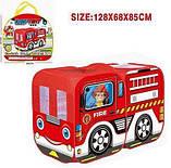 Детская игровая палатка Пожарная или Полицейская машина M 5783 (размер 128*68*85 см) 2 вида, фото 3