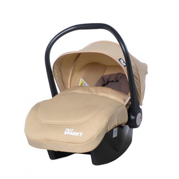 Дитяче автомобільне крісло TILLY Sparky T-511/2 Beige, група 0+, вага дитини 0-13 кг, колір бежевий