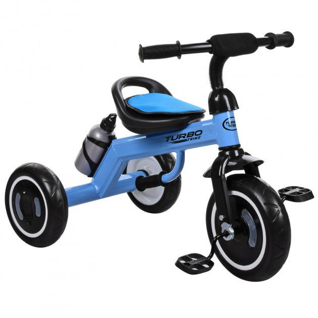 Трехколесный велосипед для мальчика с колесами которые светятся «TURBOTRIKE» M 3648-M-1, (цвет Голубой)