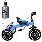 Трехколесный велосипед для мальчика с колесами которые светятся «TURBOTRIKE» M 3648-M-1, (цвет Голубой), фото 4