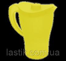 Кувшин с крышкой, 2л, жёлтый прозрачный