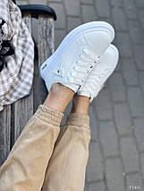 Белые кроссовки на платформе 7765 (ММ), фото 3