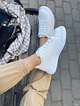 Белые кроссовки на платформе 7765 (ММ), фото 2