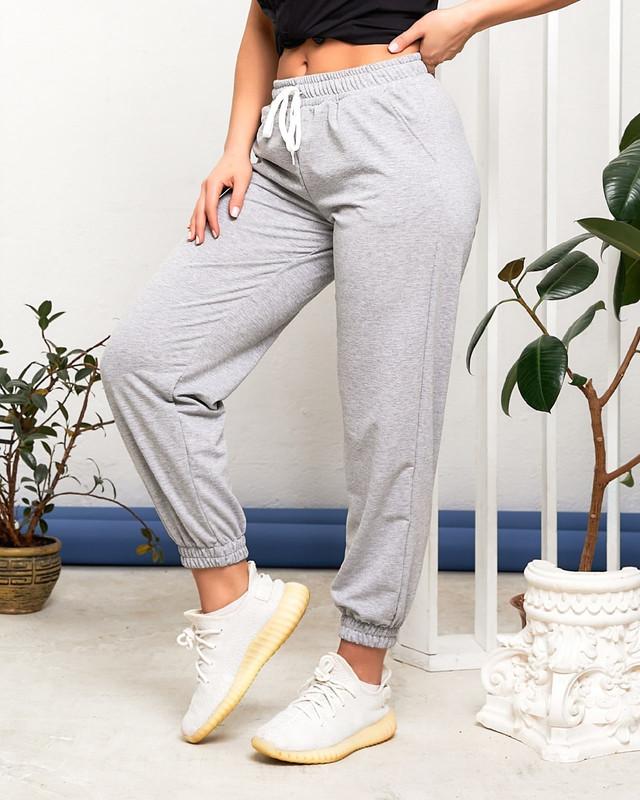 Женские спортивные штаны с поясом на резинке