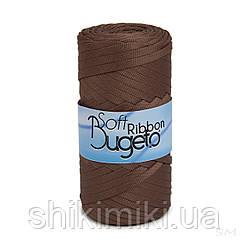 Плоский полиэфирный шнур Bugeto Soft Ribbon, цвет коричневый