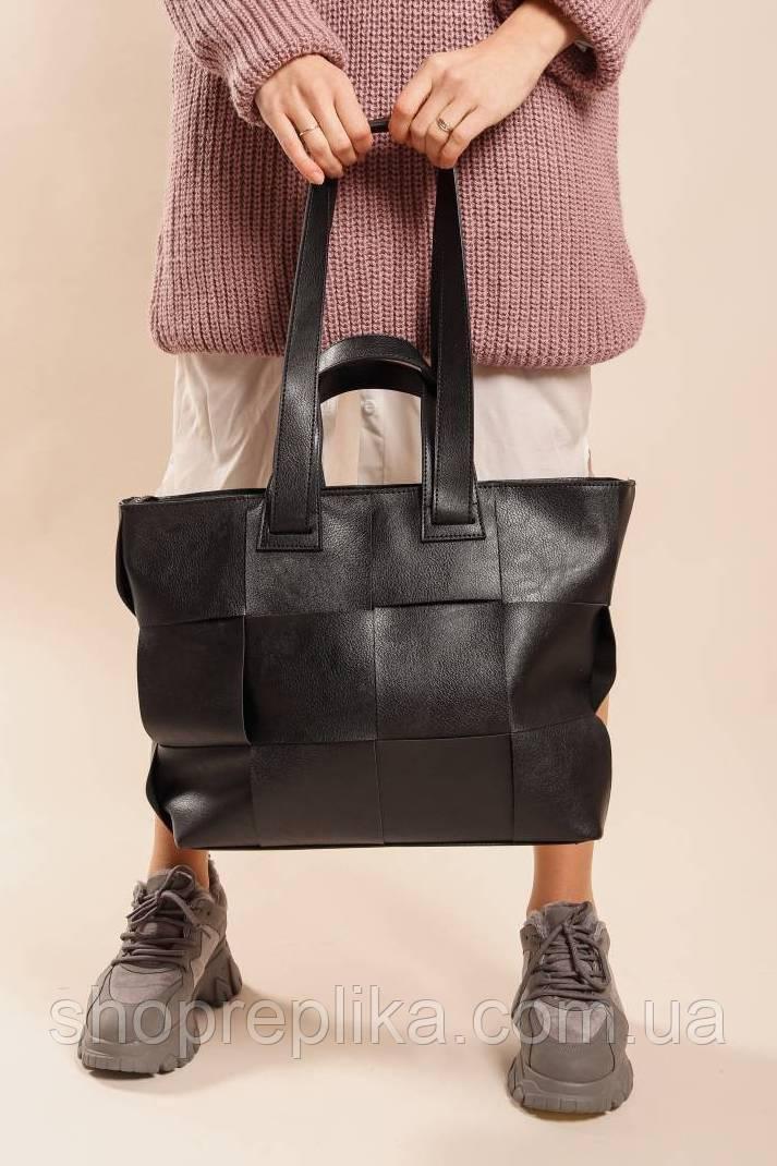 Шоппер черный Модные вместительные сумки женские Сумка Шоппер модная сумка 2021
