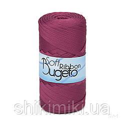Плоский полиэфирный шнур Bugeto Soft Ribbon, цвет бургунди