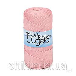 Плоский полиэфирный шнур Bugeto Soft Ribbon, цвет персиковый