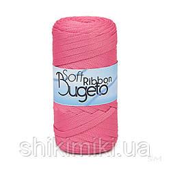 Плоский полиэфирный шнур Bugeto Soft Ribbon, цвет розовый фламинго