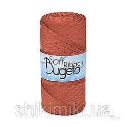 Плоский полиэфирный шнур Bugeto Soft Ribbon, цвет карминный