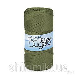 Плоский полиэфирный шнур Bugeto Soft Ribbon, цвет хаки