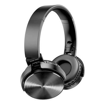 Бездротові навушники Bluetooth гарнітура HOCO Foldable headphones DW01 BT5.0, TF, AUX, 4Hours накладні, фото 2