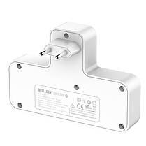 Сетевой удлинитель фильтр LDNIO SC2311, 2 Розетки + 2 USB + 1 Type-C, быстрая зарядка Quick Charge 3 + ночник, фото 3