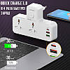 Сетевой удлинитель фильтр LDNIO SC2311, 2 Розетки + 2 USB + 1 Type-C, быстрая зарядка Quick Charge 3 + ночник, фото 2