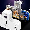 Сетевой удлинитель фильтр LDNIO SC2311, 2 Розетки + 2 USB + 1 Type-C, быстрая зарядка Quick Charge 3 + ночник, фото 6
